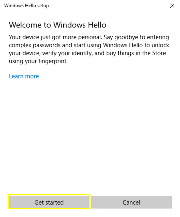 Using the Fingerprint Reader to Login Windows 10 – Customer